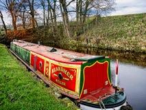 Het Kanaal van Leeds Liverpool in Salterforth in het mooie platteland op de grens van Lancashire Yorkshire in Noordelijk Engeland Royalty-vrije Stock Foto's