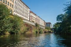 Het kanaal van Leipzig stock afbeelding