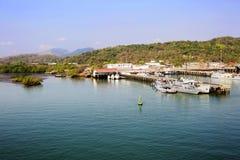 Het kanaal van Midden-Amerika, Panama, het kanaalkust van Panama Stock Foto