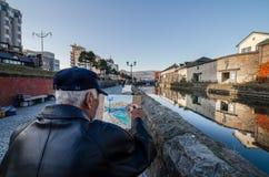 Het Kanaal van Otaru Stock Foto