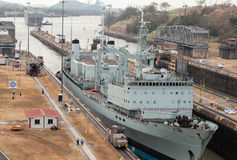 Het Kanaal van Panama Stock Foto