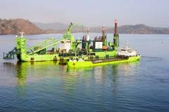 Het kanaal van Panama, Midden-Amerika, het Deense technische de kabel van het vlootschip leggen stock fotografie