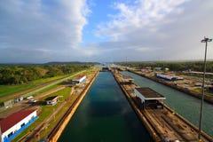 Het Kanaal van Panama in Panama Midden-Amerika Royalty-vrije Stock Foto