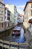 Het kanaal van Praag Stock Foto
