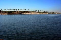Het kanaal van Suez stock afbeeldingen