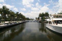 Het kanaal van voet Lauderdale Stock Foto's