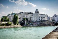 Het kanaal van Wenen, Donau stock foto