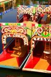 Het kanaal van Xochimilco Stock Foto's