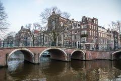 Het Kanaalbrug van Amsterdam stock afbeelding