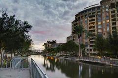 Het Kanaaldistrict van de waterkant in Scottsdale, Arizona de V.S. Royalty-vrije Stock Afbeelding