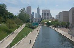 Het Kanaalgebied in Indianapolis, Indiana Stock Foto