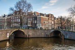 Het Kanaalhuizen van Amsterdam royalty-vrije stock afbeelding