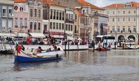 HET KANAALmening PORTUGAL VAN AVEIRO royalty-vrije stock afbeeldingen