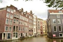 Het kanaalmening van Amsterdam Stock Foto's