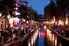 Het kanaalmening van Amsterdam Royalty-vrije Stock Foto