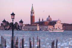 Het kanaalscène van Venetië in Italië stock foto