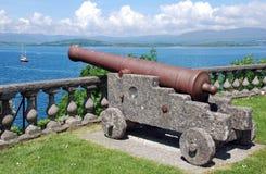 Het kanon bewaakt baai Royalty-vrije Stock Afbeeldingen