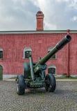 Het kanon in de Binnenwerf Royalty-vrije Stock Foto