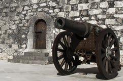 Het kanon dichte omhooggaand van het ijzerwiel Stock Foto