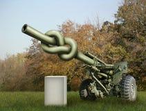 Het Kanon van de artillerie Stock Foto
