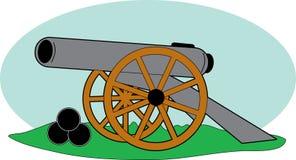 Het Kanon van de Burgeroorlog vector illustratie