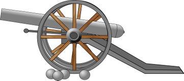 Het kanon van de burgeroorlogera Stock Afbeeldingen