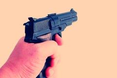 Het kanon van de hand Stock Foto's
