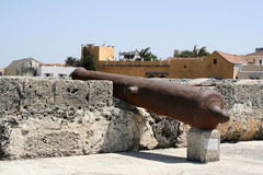 Het Kanon van de Muur van Cartagena Stock Afbeeldingen