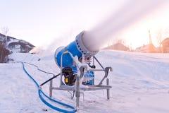 Het kanon van de sneeuw Stock Fotografie