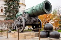 Het Kanon van de tsaar in Moskou het Kremlin Royalty-vrije Stock Afbeelding