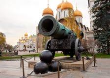 Het Kanon van de tsaar in Moskou het Kremlin stock foto