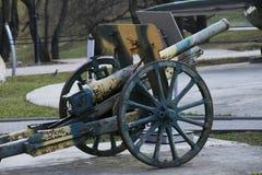 Het kanon van het legermortier Stock Foto's
