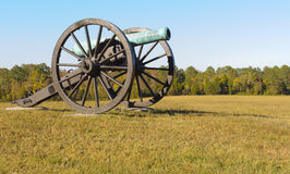 Het kanon van het slagveld royalty-vrije stock fotografie