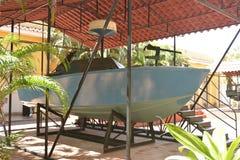 HET KANONboot VAN CUBA CIENFUEGOS 0LD Royalty-vrije Stock Fotografie