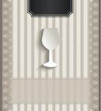 Het kant natuurlijk document van het menurestaurant 3D glas Royalty-vrije Stock Fotografie