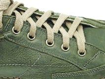 Het kant van de schoen in close-up stock foto's
