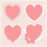 Het kant van het de hartenontwerp van de Valentineыdag Stock Afbeeldingen