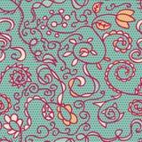 Het kanten naadloze bloemenpatroon van de lente Royalty-vrije Stock Afbeeldingen