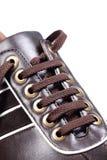 Het kantmacro van de schoen Stock Foto