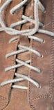 Het kantmacro van de schoen Royalty-vrije Stock Foto