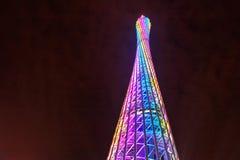 Het kantontoren van de nachtscène in China royalty-vrije stock afbeeldingen