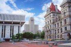 Het kapitaal van Albany, de staat van New York, straatmening stock foto