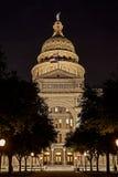 Het Kapitaal van de staat van Texas bij Nacht Stock Foto's
