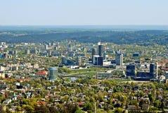 Het kapitaal van de Vilniusstad van de luchtmening van Litouwen Royalty-vrije Stock Afbeelding