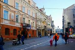 Het kapitaal van de Vilniusstad van het centrummening van Litouwen Royalty-vrije Stock Foto's