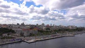 Het kapitaal van Liberty Island, Cuba - Havana stock footage