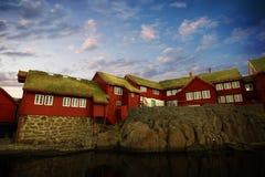 Het kapitaal van Torshavn in de Faore-Eilanden royalty-vrije stock foto