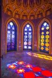 Het kapiteins` s kasteel, binnenkant, in Villa Durazzo- Pallavicini in Genoa Pegli, Italië Royalty-vrije Stock Foto's