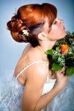 Het kapsel van de bruid Stock Foto