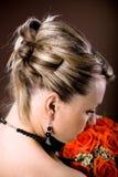 Het kapsel van de bruid Stock Foto's